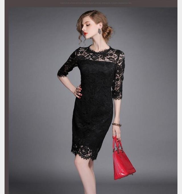 Váy đầm liền ôm body chất liệu ren nổi