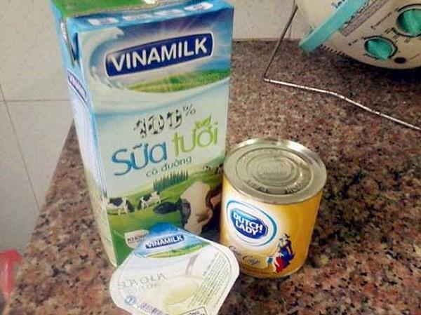 Nguyên liệu làm yaourt bằng nồi cơm điện