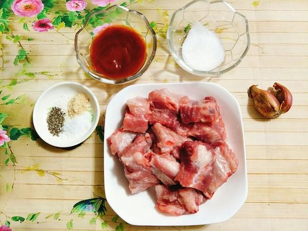 Nguyên liệu làm món sườn xào chua ngọt